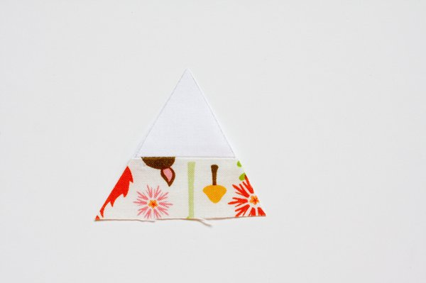 Triangular Log Cabin Pincushion - 8