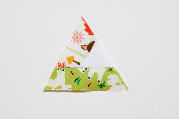 Triangular Log Cabin Pincushion - 10