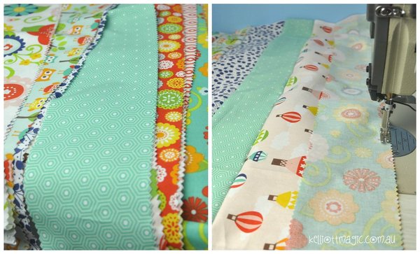 Sewing the Rolie Polie Strips