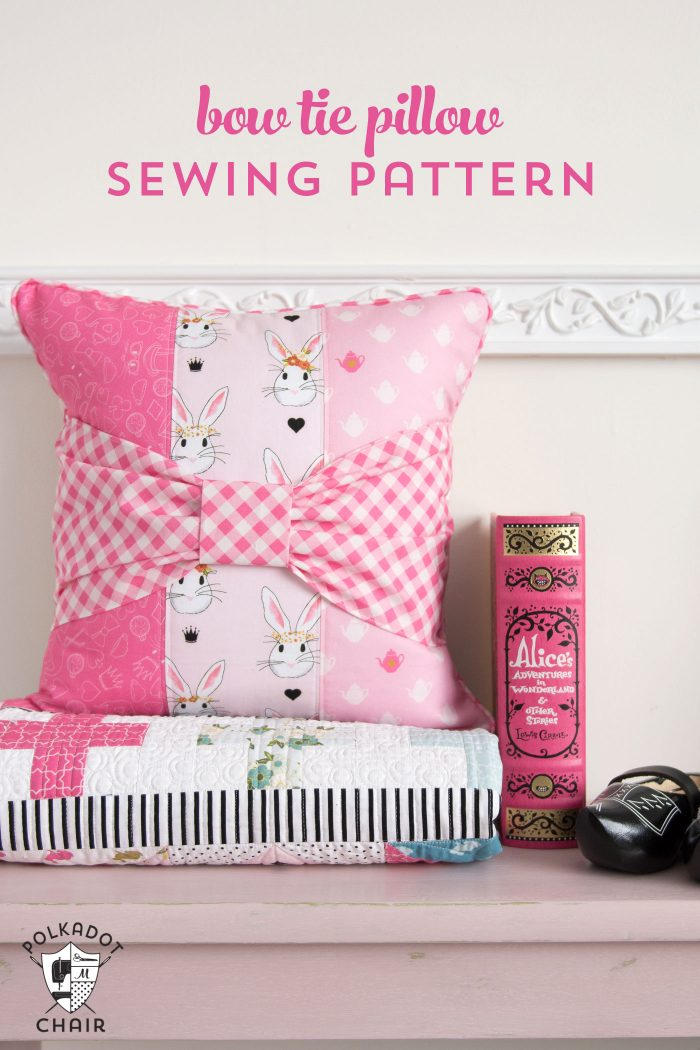 riley blake designs, project design team, melissa mortenson, the polka dot chair, wonderland two, pillow