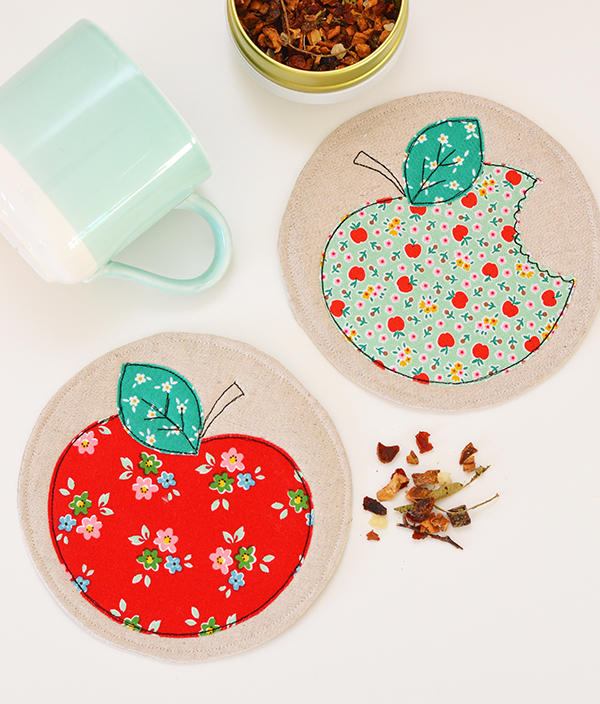 Lori Holt Sew Cherry 2 Apple Coasters