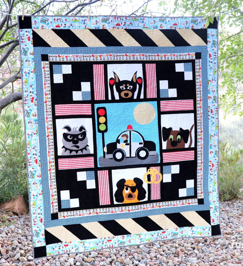 Cops & Robbers – Caught Red Handed Quilt