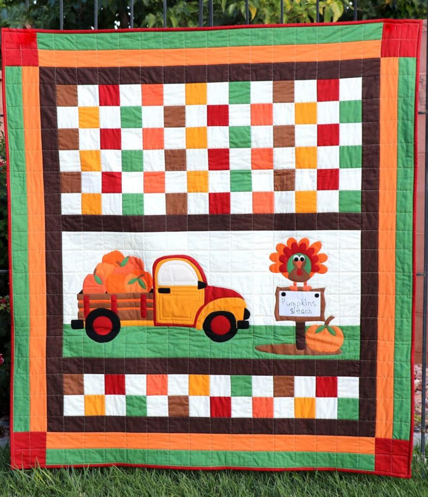 Confetti Cottons – Thanksgiving Pumpkin Sale Quilt