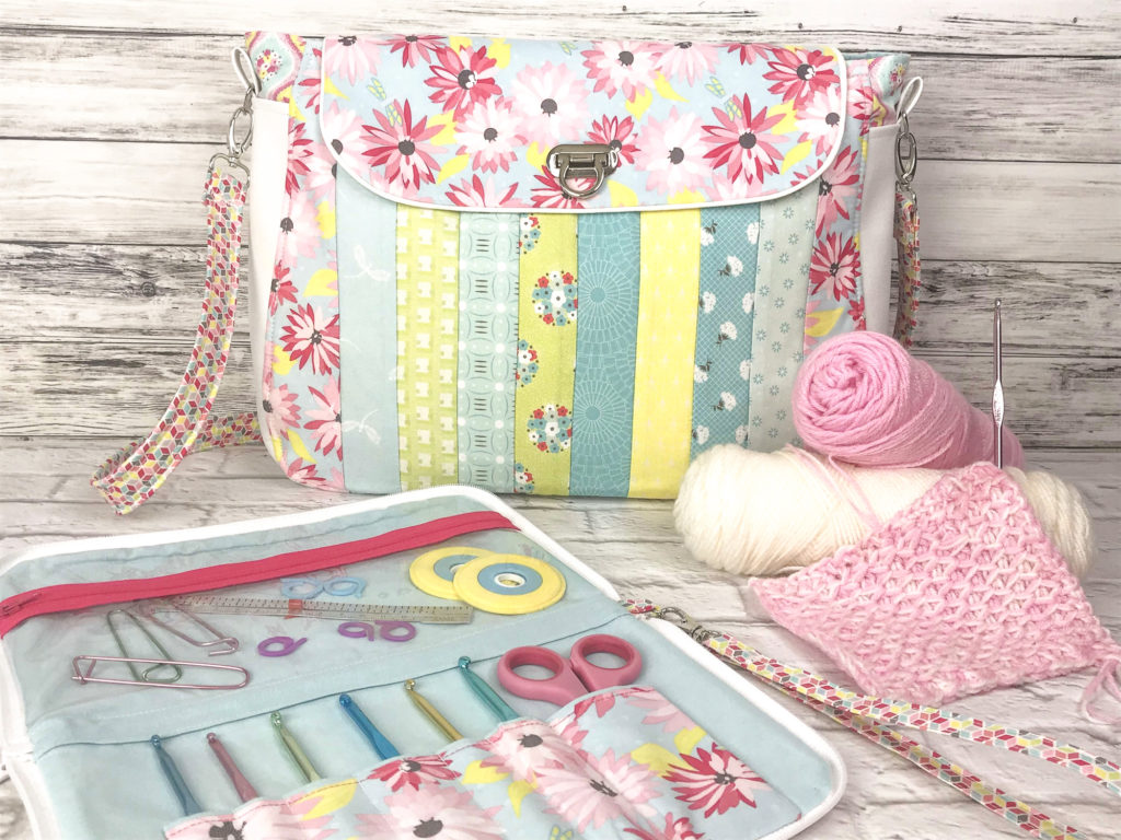 Paper Daisies – Project Bag + Crochet Organizer