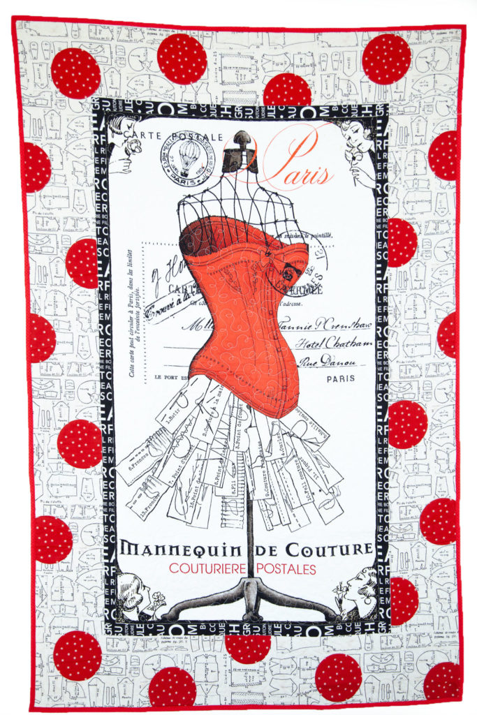 FREE Pattern Feature – Couturiere Parisienne Polka Dot Paris Quilt